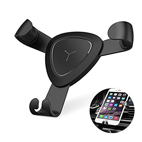 Car Phone Holder - Newest Air Vent Mount Gravity Linkage Drive Car Phone Stand Cradle Bracket with Fast Swift-Snap Technology for Iphone, Samsung, Google, Huawei, Note and other