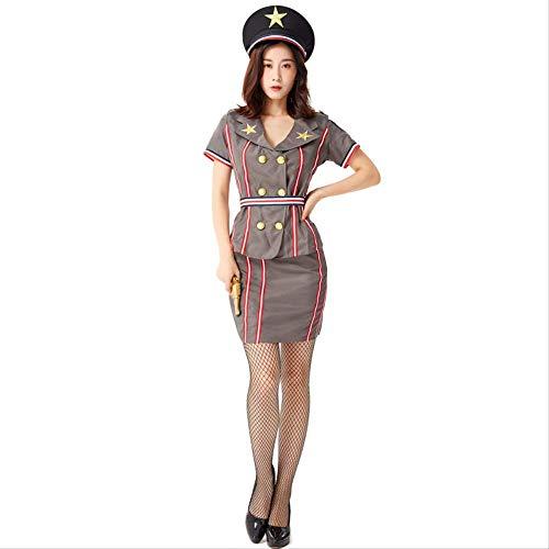 Erwachsene Kostüm Für Professionelle - ZmnXnm Halloween Cosplay Kostüme, Erwachsene Rollenspiel Professionelle Uniformen, Weibliche Instruke Von Navy Commander Short Skirt m Dunkelgrau