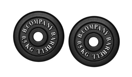Bad Company I Hantelscheiben aus Gusseisen I Hantel Gewichte I 1 Kg (2 x 0,5 Kg), 30/31 mm