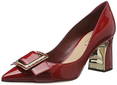 SebastianS7128 - Scarpe con Tacco Donna , Rosso (Rot (Vercer/Oro)), 36 EU
