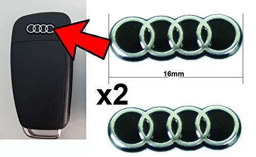 Audi Schlüssel Fernbedienung Key Emblem Logo selbstklebend Ersatz Replacement A2 A3 A4 A5 A6 A8 TT Q3 Q5 Q7 S3 S4 S5 S6 S8 SQ5 RS3 RS4 RS5 RS6 RS8 4F 8P 8E S-Line
