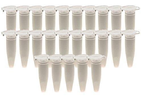 � 1,5 ml, Globulibehälter, Micro-Tube mit Deckel aus PP-Kunststoff BPA-frei made in Germany (Kleine Kunststoff-gläser Mit Deckel)