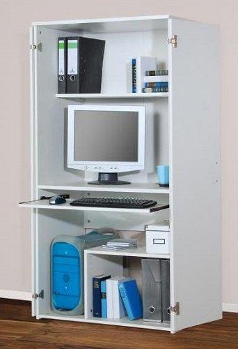 Computerschrank PC-Schrank Büroschrank weiß dekor - (1881)