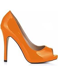 InternacionalePlatform Court Orange - plataforma mujer , color Naranja, talla 36.5