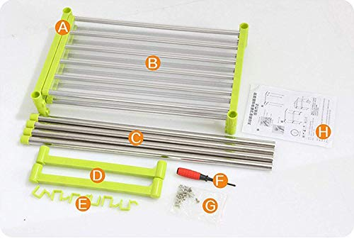 Way BeyondDIY Stainless Steel Microwave Oven Rack for Expandable Kitchen Storage (Multicolour)