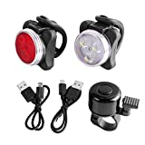 Unigear LED Bike Lights Set USB Rechargeable Smart Sensors Waterproof, Bicycle Headlight Taillight
