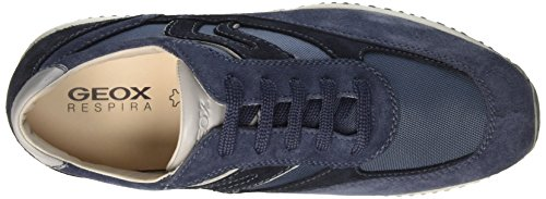 Geox U Happy Art.P, Sneakers Basses Homme Bleu (Lt Navy/Navycb4F4)