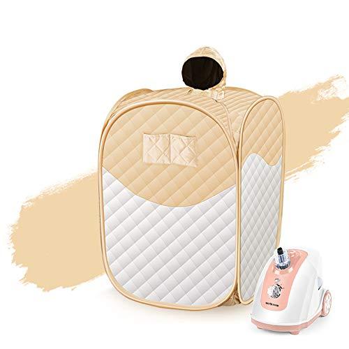 LMJ-massage Dampfsauna Tragbarer Topf, Saunakabine Saunabad Box Körper Gesicht abnehmen, Spa Dampfer Saunazelt für Wohnzimmer, Gewichtsverlust Haut Spa Maschine,Gold,A -