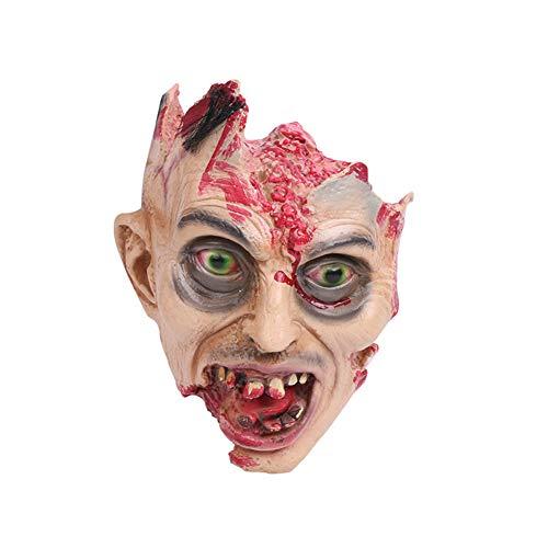 Latex Maske Horror Blutige Gummi-Teufel Alien Realistischen Silikon Sehr Natürlich Realistisch Und Leicht Zu Reinigen Verwendung Geeignet Für Die Meisten Erwachsenen Und Kinder ()