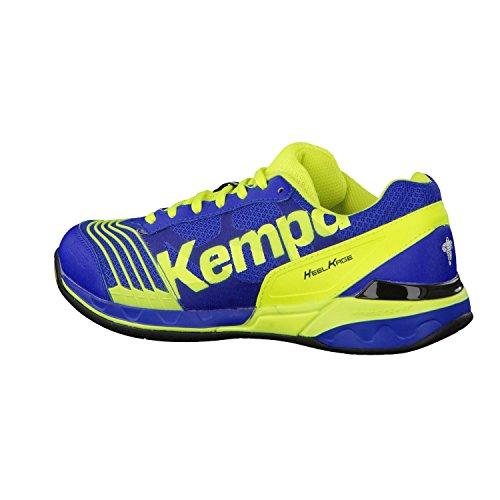 Kempa ATTACK TWO Unisex-Erwachsene Handballschuhe royal/fluo gelb