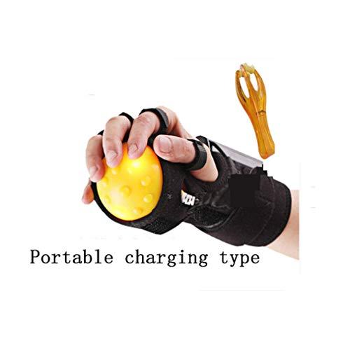 GWM Elektrische Handmassage Ball Heißer Kompression Strich Hemiplegic Finger Rehabilitation Trainingsmaschine Finger Recovery Ausrüstung (Farbe : D) - Recovery-ausrüstung