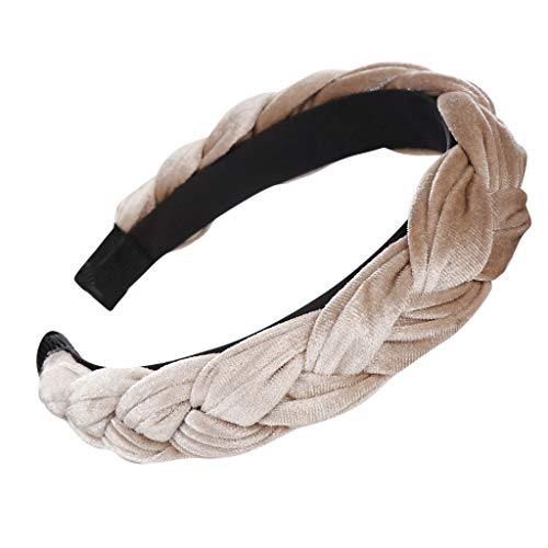 Einfach Seide (CUEYU Damen Haarband,Mode Bogen Knoten Frauen Helle Seide Kopf Hoop Einfache Süße Mädchen Haar Stirnbänder (Khaki))