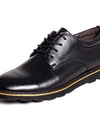 Zapatos de hombre casual Oxfords de cuero negro/marrón , negro-us9.5 / ue42 / uk8.5 / CN43 , negro-us9.5 / ue42 / uk8.5 / CN43