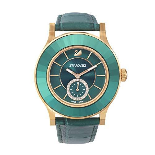 Swarovski Damen Analog Quarz Uhr mit Leder Armband 5123124