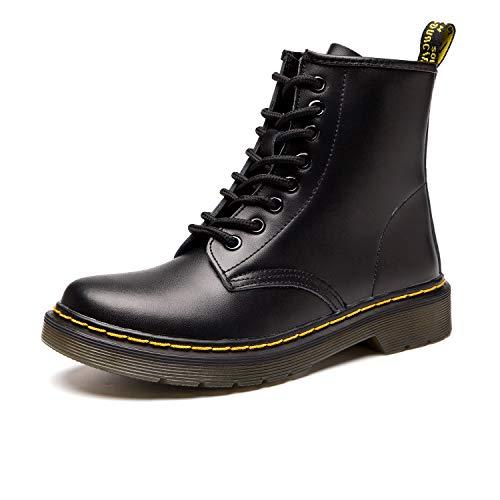 SITAILE Moda Invierno Zapatos Boots Botines Botas de Nieve Botas para Hombre Mujer,negro,44