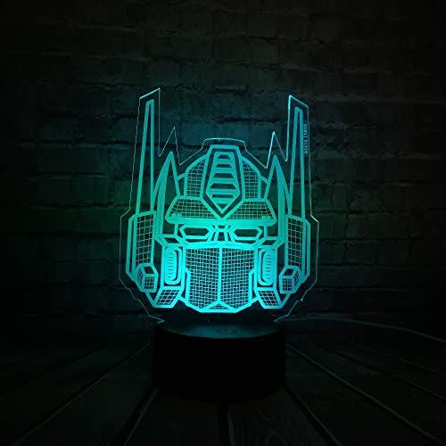 ampe Transformatoren Maske Dekoration Letzten Ritter 7 Farben Ändern Nachtlicht Junge Auto Spielzeug Geschenk Ornament Blubing ()
