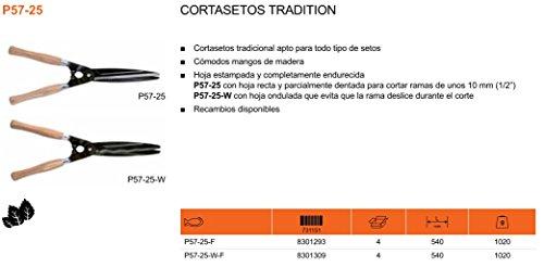 ECOSPAIN Tijeras poda Bahco P57-25. Mangos Madera