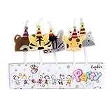 BESTOYARD 5pcs Animaux Bougies de gâteau d'anniversaire pour Les décorations d'anniversaire Enfant