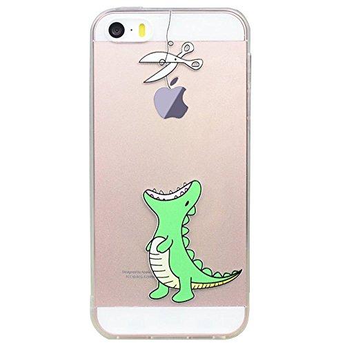 Cover Per iPhone 4S,Hippolo Custodia Protettiva Shell Case Cover Per iPhone 4S in Silicone TPU (Per iPhone 4S, 8) 12