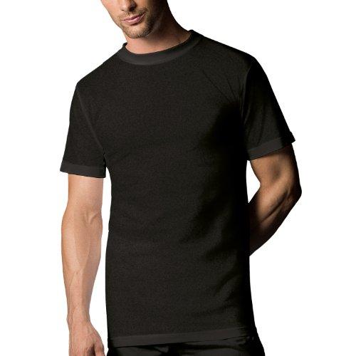 Nur Der T-Shirt Tisch Doppelpack,827803 - T-Shirt da uomo Nero (Schwarz)