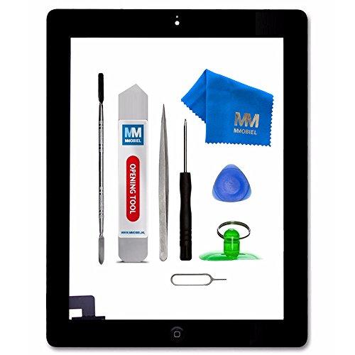 MMOBIEL® Digitizer Display Glas für iPad 2 (Schwarz) 9.7 inch Touchscreen Ersatzteil Inkl Flex Home Button + Kamera Halterung + Klebesticker und Werkzeugset mit Anleitung