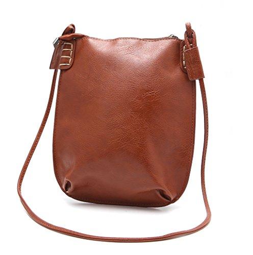 Dairyshop Sacchetti di Hobo del messaggero delle donne di modo della borsa della signora di modo (Marrone chiaro) Marrone chiaro