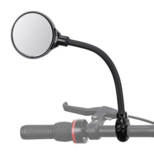 wishing Fahrrad Spiegel, Fahrradspiegel Rückspiegel Klappbarer Verstellbar & Klemm-Montage für Fahrrad Motorrad E-Bike (Bike Mirror)