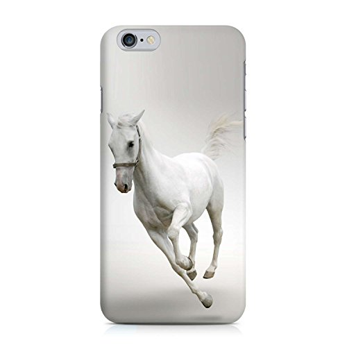 COVER Pferd weiss Schimmel Tier horse Design Handy Hülle Case 3D-Druck Top-Qualität kratzfest Apple iPhone 6 6S