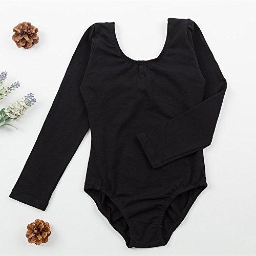 Kind tanzen Trainieren Kleidung Kinder Siamese Gymnastik Lange Ärmel Unterwäsche , black , (Tanz Kostüme Kleidungsstück Racks)