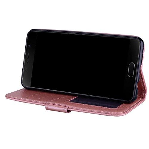 Coque Samsung Galaxy A3 (2016) , Bling Glitter Licorne Étui Protection Wallet PU en Cuir Housse la Haute Qualité Pochette Anti-rayures Couverture Bumper Rabat Magnétique Antichoc Cuir Véritable Case A Rose
