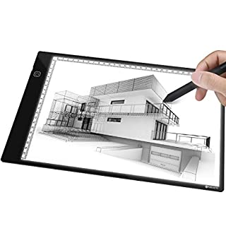 Light Box Drawing, A4 Ultra-thin Light Pad Brightness Adjustable Copy Board with USB Cable for Artists, Sketching, Animation, Designing, Tattoo, Architecture, Perfect Gift for Kids