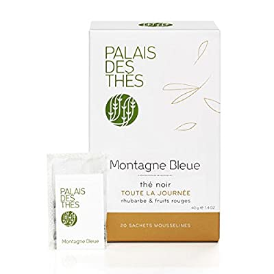 Palais Des Thés - Thé Noir Parfumé Montagne Bleue - 20 Sachets Mousselines