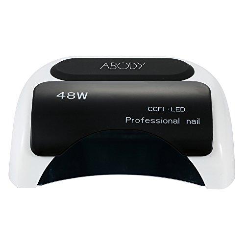 Abody - Secador de uñas con temporizador CCFL y lámpara de luz LED UV, color Negro