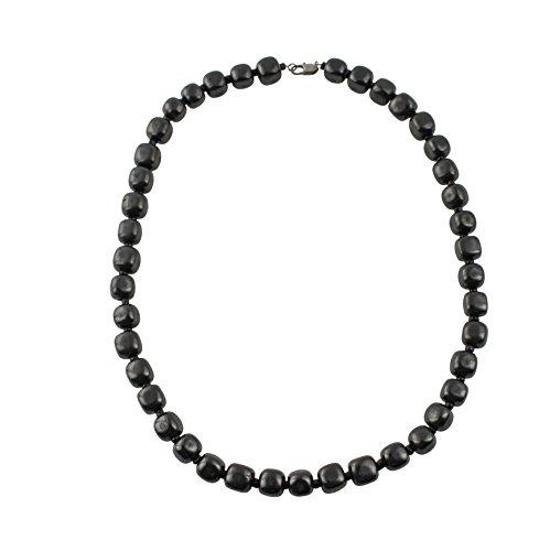 Schungit Halskette - Garantiert Authentische Höchste Qualität Russische Naturheilung Steine aus Karelia (Klassisch)