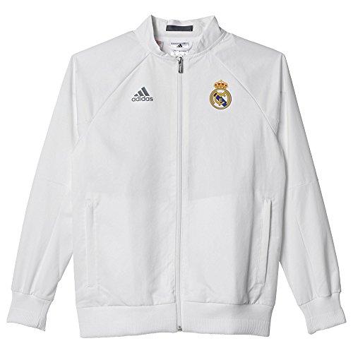 adidas Kinder Jacke REAL Anth Jacket Y, Weiß/Grau, 152