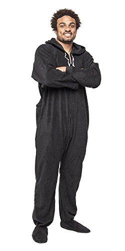 Forever Lazy Onesie/Pyjamafür Erwachsene, unisex, mit Füßen Gr. Small, schwarz -