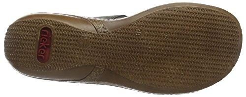 Rieker - 62854 Women Mules, Pantofole Donna Grigio (Stromboli / 45)