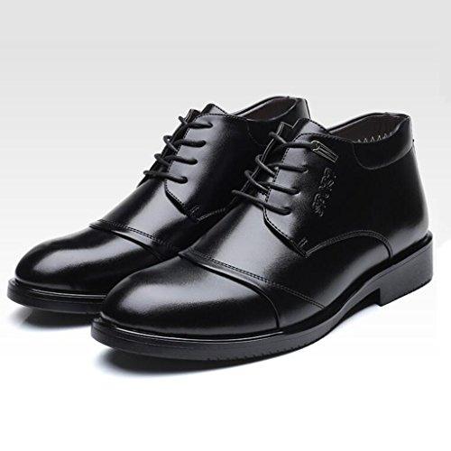 Scarpe Da Uomo In Pelle Da Uomo E Peluche Per Tenere Caldi Stivali Invernali In Cotone 37-43 Black