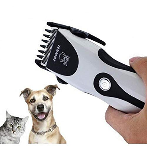 Lalia Tierhaarschneider Haarschneider wiederaufladbar kabellos elektrisch Schermaschine für Hunde Katzen Trimmer Haustier Tierhaarschneidemaschine drahtlos (In Der Nähe Haar-trimmer)