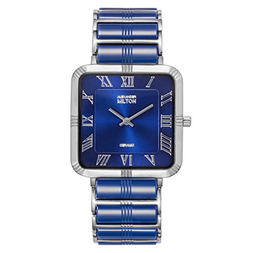 ALEXANDER MILTON - montre homme - ADMETE, bleu/argente