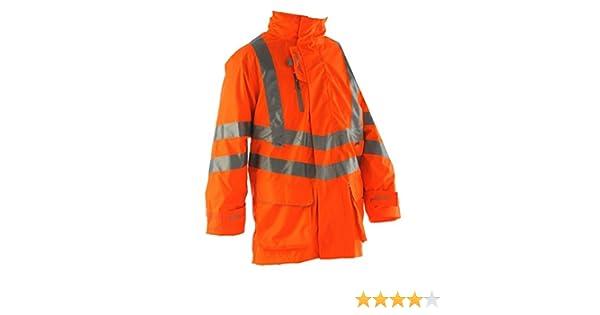 3XL Pulsarail PR502 High Vis Lined Storm Coat