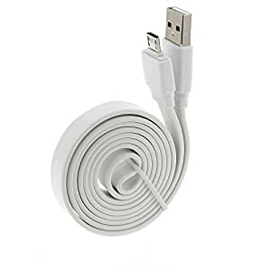 Acce2S - CABLE PLAT pour HUAWEI Y5 MICRO USB BLANC