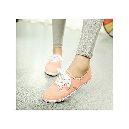 10e8bd61fb84d Basse Baskets Toile Orange Chaussure Sport En Mode Léger De Femme Tennis  Ochenta Sneakers FwqgHH