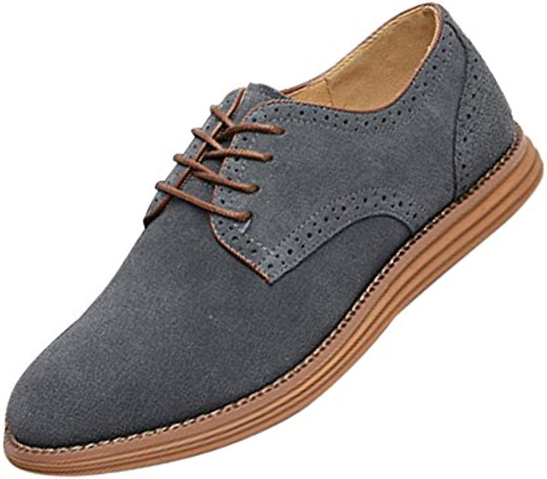 SODIAL(R)NEU Veloursleder Europaeische Stil Leder Schuhe Herren Oxfords laessig grau 11   999