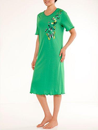 Damen Nachthemden mit dekorativen platziertem Druck by Simone koralle/türkis