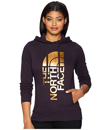 The North Face Women's's Trivert Pullover Hoodie - Galaxy Purple & Gold Foil - XXL