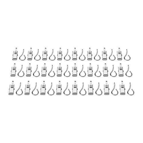 IKEA 802.122.01RIKTIG ganchos para cortina (con clip, 24-Pack