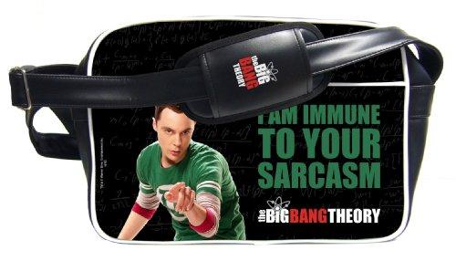 Sac Bandoulière 'The Big Bang Theory' - Sheldon Immune Sarcasm Noir