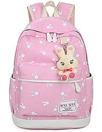 ☀️Sunshine☀️borse/zaini borsa zainole donne ragazza coniglio animali viaggiare zaino scuola borsa borsa borsa zaino da viaggio borsa zaino pelle indici borsa andamento borse (Rosa)
