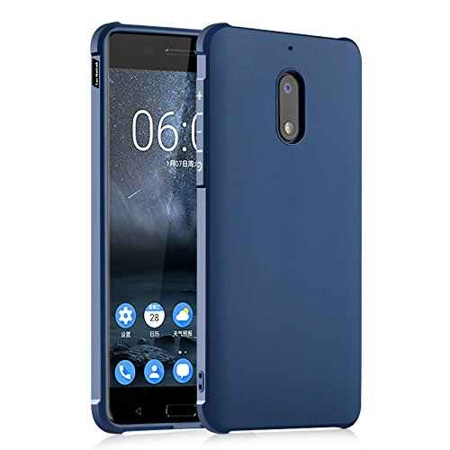 SMTR Nokia 6 Hülle mit Silikon TPU Material und Farblich Muster Schutzhülle Handytasche für Nokia 6 -Blau